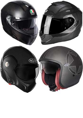 Carbon motorcykel hjelme
