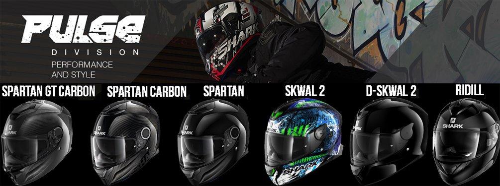 Shark Pulse Division - full-face hjelme med ydeevne og stil