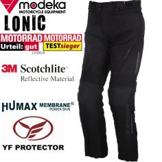 Modeka 3in1 motorcykelbukser LONIC vandtæt Humax med termisk foring seler og beskyttere
