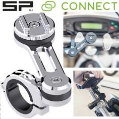 SP Connect smartphone mobiltelefonstyret monteres MOTO MOUNT PRO CHROME til motorcykelmoped