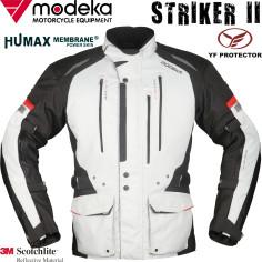 Modeka motorcykeljakke STRIKER II 2 vandtæt Humax 3M termisk foring med YF-beskyttere