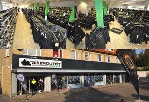 Biker Outfit Ladengeschäft in Schleswig